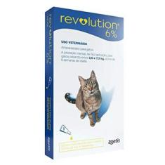 Anti Pulgas E Carrapatos Zoetis Revolution 6 Para Gatos De 2,5 A 7,5 Kg - 3 Ampolas De 0,75ml