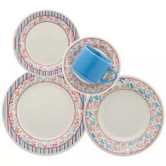 Aparelho de Jantar Redondo de Cerâmica 20 peças - Donna Melissa 5119 Oxford Porcelanas