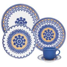 Aparelho de Jantar Redondo de Cerâmica 20 peças - Floreal La Carreta Oxford Porcelanas