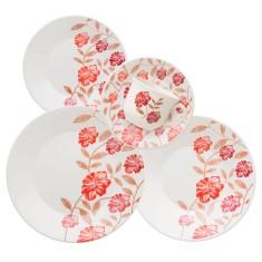 Aparelho de Jantar Redondo de Cerâmica 30 peças - Actual Aroma Biona Oxford Porcelanas