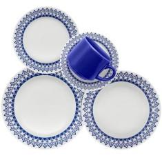 Aparelho de Jantar Redondo de Cerâmica 30 peças - Donna Grécia Oxford Porcelanas