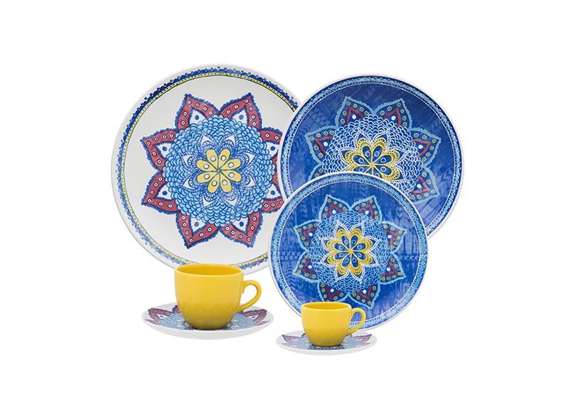 Aparelho De Jantar Redondo De Porcelana 42 Peças Coup Harmony