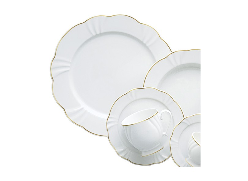 Aparelho De Jantar Redondo De Porcelana 42 Peças Soleil Victoria