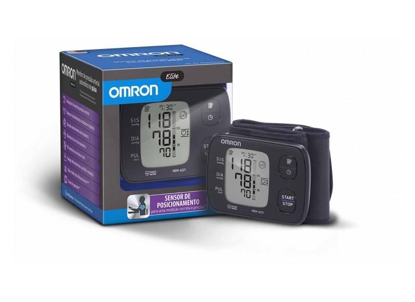 a1ff83a8f Aparelho Medidor de Pressão Digital De Pulso Omron Elite HEM-6221