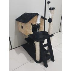 Arranhador Para Gato Com Casa Rede Escada