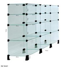 Balcão de Atendimento Modulado em Vidro - 1,10 x 0,90 x 0,30