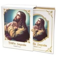 Bíblia Sagrada Católica - Edição Luxo - Branca - DCL Editora - 7898598045618