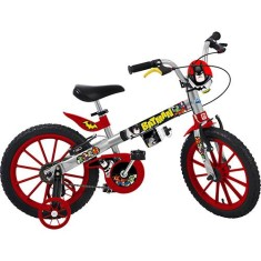 Bicicleta Bandeirante Batman Aro 16 Freio V-Brake Liga da Justiça
