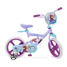 Bicicleta Bandeirante Frozen Aro 14 Suspensão no quadro X-Bike