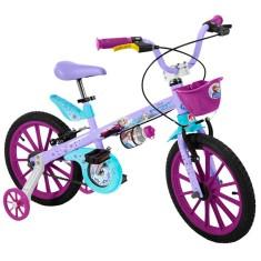 Bicicleta Bandeirante Frozen Aro 16 Freio V-Brake 2473