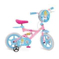 Bicicleta Bandeirante X-Bike Cinderela Aro 12 Suspensão no quadro X-Bike Cinderela
