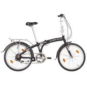 Bicicleta Blitz Dobrável 6 Marchas Aro 24 Freio V-Brake Fit