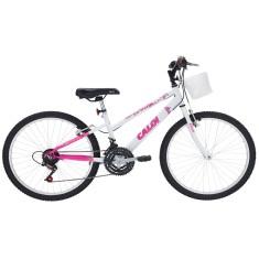 Bicicleta Caloi 21 Marchas Aro 24 Freio V-Brake Ceci
