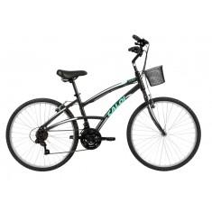 Bicicleta Caloi 21 Marchas Aro 26 Freio V-Brake 100 Comfort Feminina