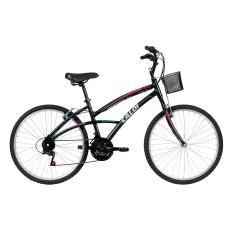 Bicicleta Caloi 21 Marchas Aro 26 Freio V-Brake 100 Feminina 2016