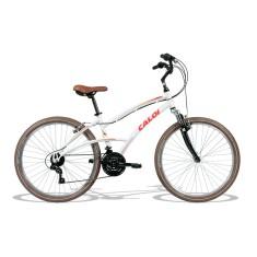Bicicleta Caloi 21 Marchas Aro 26 Suspensão Dianteira Freio V-Brake 400 Feminina 2017