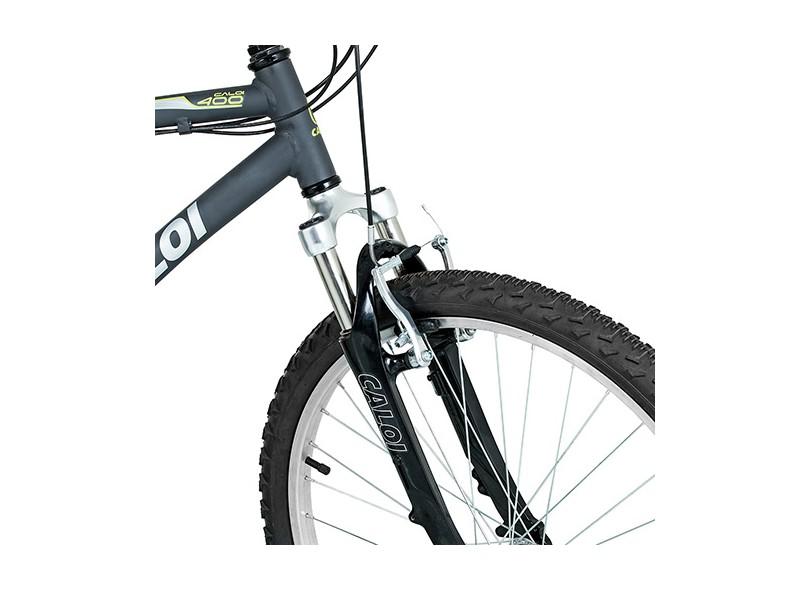 0bf71acfd Bicicleta Caloi Aro 26 21 Marchas Suspensão Dianteira 400 Masculina