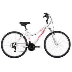 Bicicleta Caloi 21 Marchas Aro 26 Suspensão Dianteira Freio V-Brake Rouge