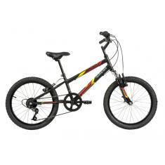 Bicicleta Caloi 7 Marchas Aro 20 Suspensão Dianteira Freio V-Brake Snap
