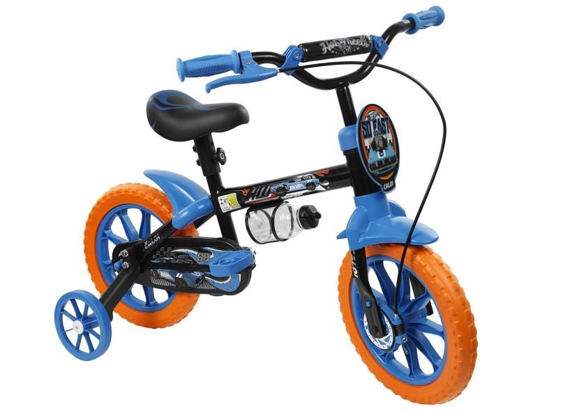 b57ef6978 Bicicleta Caloi Aro 12 Hot Wheels 2014