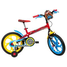 Bicicleta Caloi Hot wheels Aro 16 Freio V-Brake
