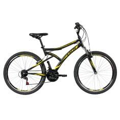 Bicicleta Caloi Lazer 21 Marchas Aro 26 Suspensão Dianteira Freio V-Brake Andes 2017