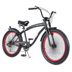 Bicicleta Chopper DropBoards 7 Marchas Aro 24 Freio V-Brake Psycle Naja