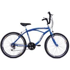 Bicicleta Dalannio Bike 18 Marchas Aro 26 Freio V-Brake Beach Masculina