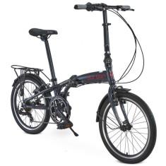Bicicleta Durban Dobrável 6 Marchas Aro 20 Freio V-Brake Sampra Pro