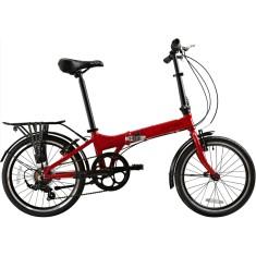 Bicicleta Durban Dobrável 7 Marchas Aro 20 Freio V-Brake Bay Pro