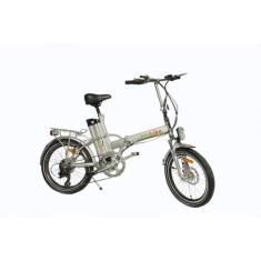 Bicicleta Elétrica Biobike Dobrável Aro 20 Suspensão Dianteira Freio a Disco Mecânico JS 12