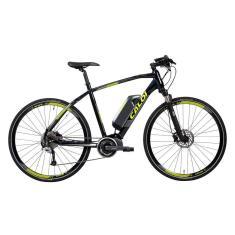 Bicicleta Elétrica Caloi Aro 700 Suspensão Dianteira Freio a Disco Hidráulico E-Vibe City Tour