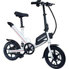 Bicicleta Elétrica Mymax Dobrável Aro 14 Freio a Disco Mecânico E-Bike Way