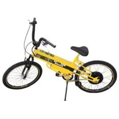 Bicicleta Elétrica Scooter Brasil Aro 26 Suspensão Dianteira Freio V-Brake MTB Pró