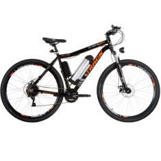 Bicicleta Elétrica Track & Bikes 21 Marchas Aro 29 Suspensão Dianteira Freio a Disco Mecânico Lithium