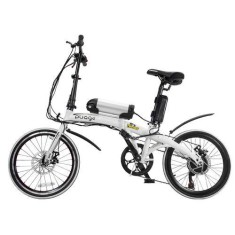 Bicicleta Elétrica TwoDogs Dobrável 7 Marchas Aro 20 Freio a Disco Mecânico Pliage