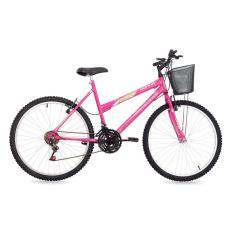 Bicicleta Free Action 21 Marchas Aro 26 Freio V-Brake Donna