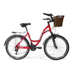 Bicicleta GTSM1 21 Marchas Aro 26 Suspensão Dianteira Freio V-Brake Walk Urbano