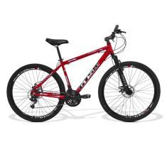 Bicicleta GTSM1 24 Marchas Aro 29 Suspensão Dianteira Freio a Disco Mecânico Ride Rebaixada