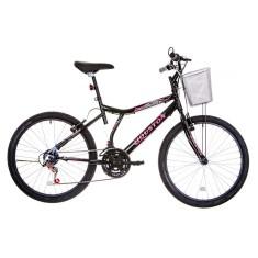 Bicicleta Houston 21 Marchas Aro 24 Freio V-Brake Bristol Peak 2015
