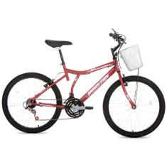 Bicicleta Houston 21 Marchas Aro 24 Freio V-Brake Bristol Peak