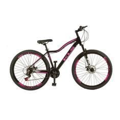 Bicicleta KLS 21 Marchas Aro 29 Suspensão Dianteira Freio a Disco Mecânico Mountain Bike