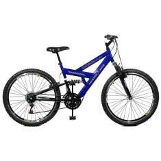 Bicicleta Master Bike 21 Marchas Aro 26 Suspensão Full Suspension Freio V-Brake Kanguru Style