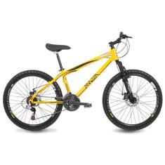 Bicicleta Mazza Bikes 21 Marchas Aro 26 Suspensão Dianteira Freio a Disco Mecânico Fire MZZ-100