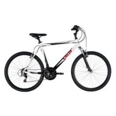 Bicicleta Mountain Bike Caloi 21 Marchas Aro 26 Suspensão Dianteira Freio V-Brake HTX Sport Masculina