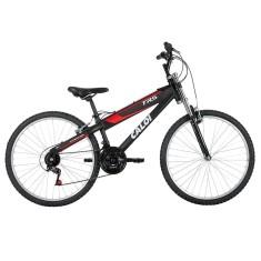 Bicicleta Mountain Bike Caloi 21 Marchas Aro 26 Suspensão Dianteira Freio V-Brake TRS 2016