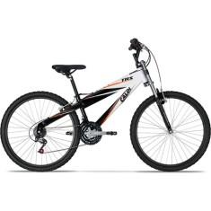 Bicicleta Mountain Bike Caloi 21 Marchas Aro 26 Suspensão Dianteira Freio V-Brake TRS