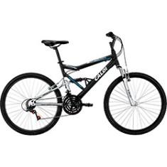 Bicicleta Mountain Bike Caloi 21 Marchas Aro 26 Suspensão Full Suspension Freio V-Brake KS