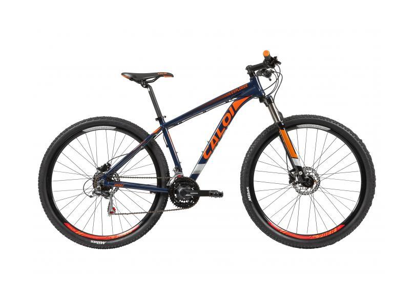 3ec120985 Bicicleta Mountain Bike Caloi Aro 29 21 Marchas Suspensão Dianteira  Explorer Sport 2019