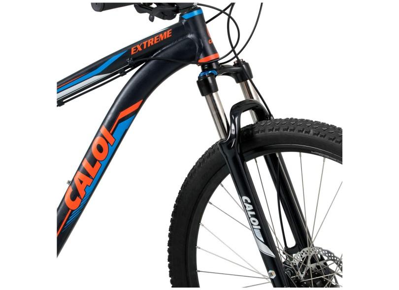 98cdc026c Bicicleta Mountain Bike Caloi Aro 29 21 Marchas Suspensão Dianteira Extreme
